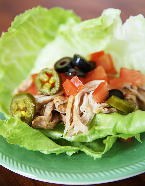 Paleo Mexican Chicken Lettuce Wraps