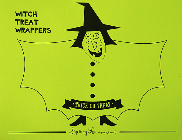 Witch Treat Wrapper free printable