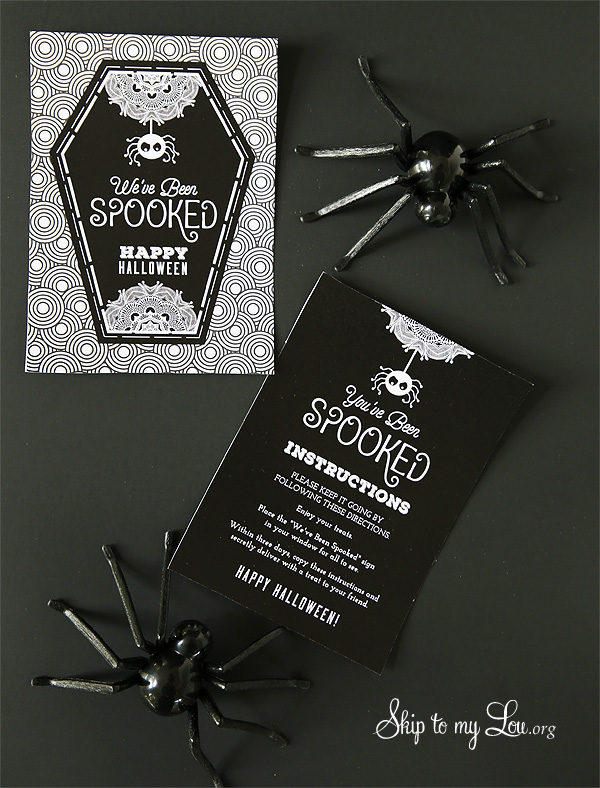 You've Been Spooked free printable signs
