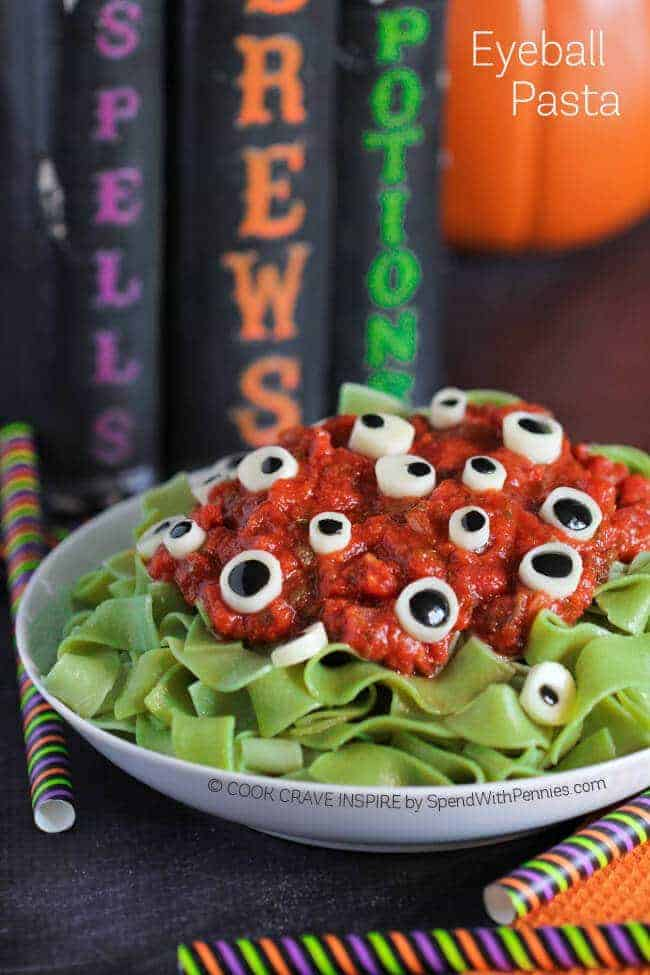 eyeball pasta halloween dinner ideas