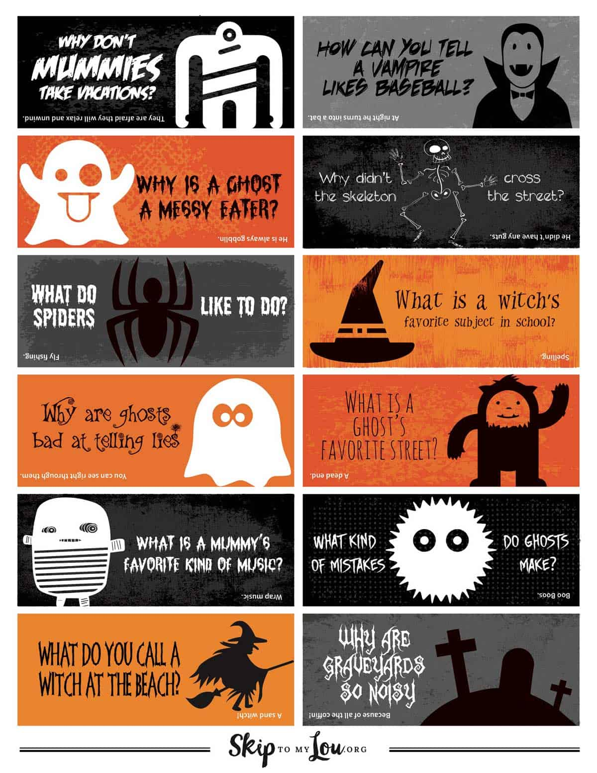 halloween jokes for kids printable