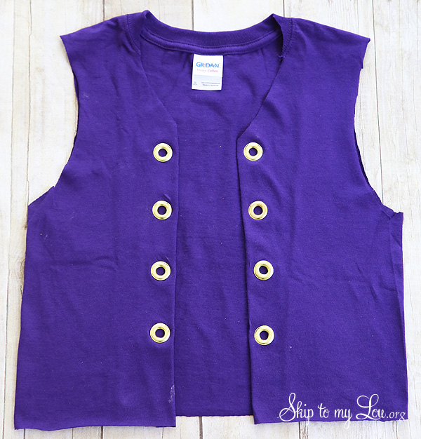 t-shirt to vest add grommets