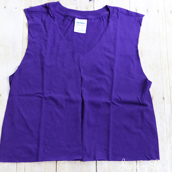 t-shirt to vest cut neck
