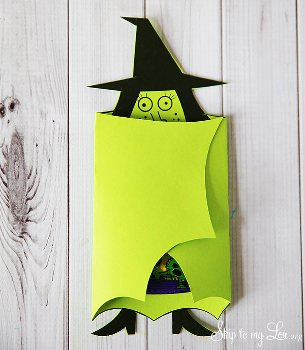 witch candy cover printable favor