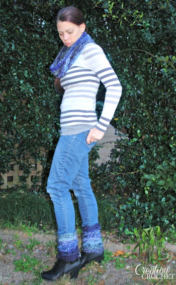 Blue Moon Rising Boot Cuffs on Skip to my Lou designed by Cre8tion Crochet
