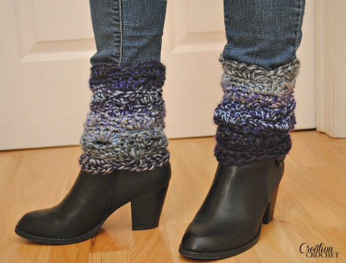 Blue Moon Rising Boot Cuffs designed by Cre8tion Crochet exclusively for Skip to my Lou