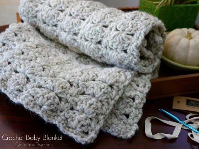 Chunky Crochet Baby Blanket Skip To My Lou