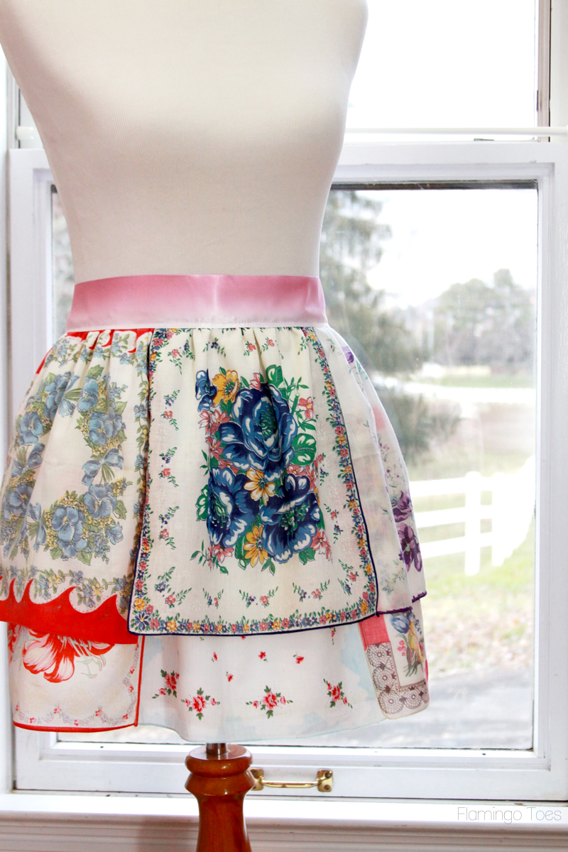 Colorful Vintage Handkerchief Apron Skip To My Lou