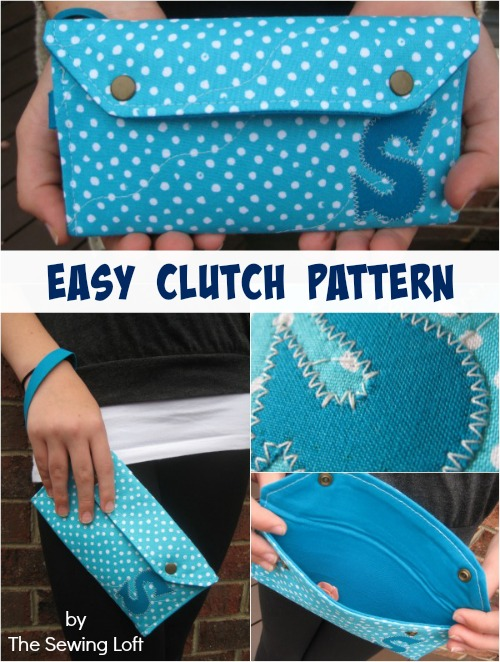 Fabric Clutch Pattern by The Sewing Loft