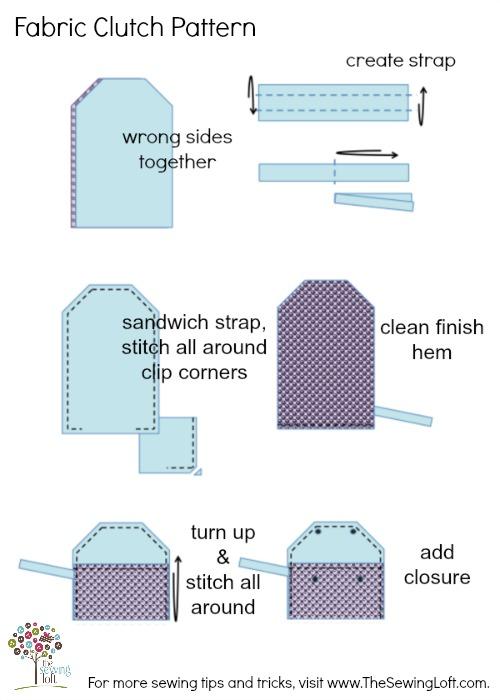 Fabric Clutch Pattern 500