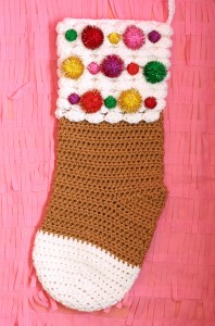 Crochet Gingerbread Christmas Stocking
