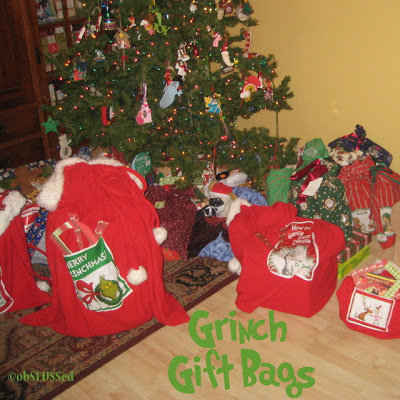 Grinch Craft Gift Bags Sew obSEUSSed