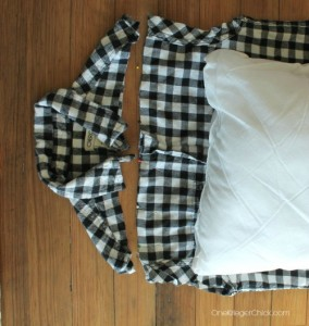 How to make a pillowcase out of a dress shirt- OneKriegerChick.com