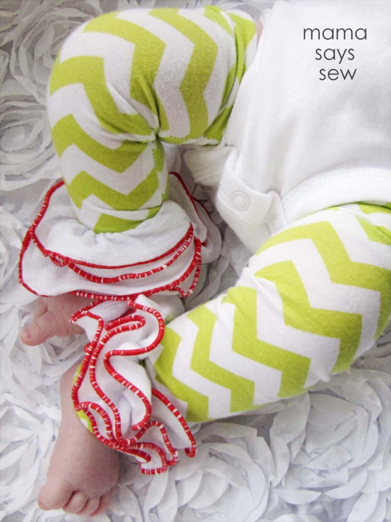 Baby gift idea ruffled leg warmers
