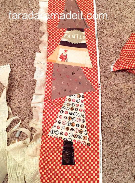 sew a holiday table runner