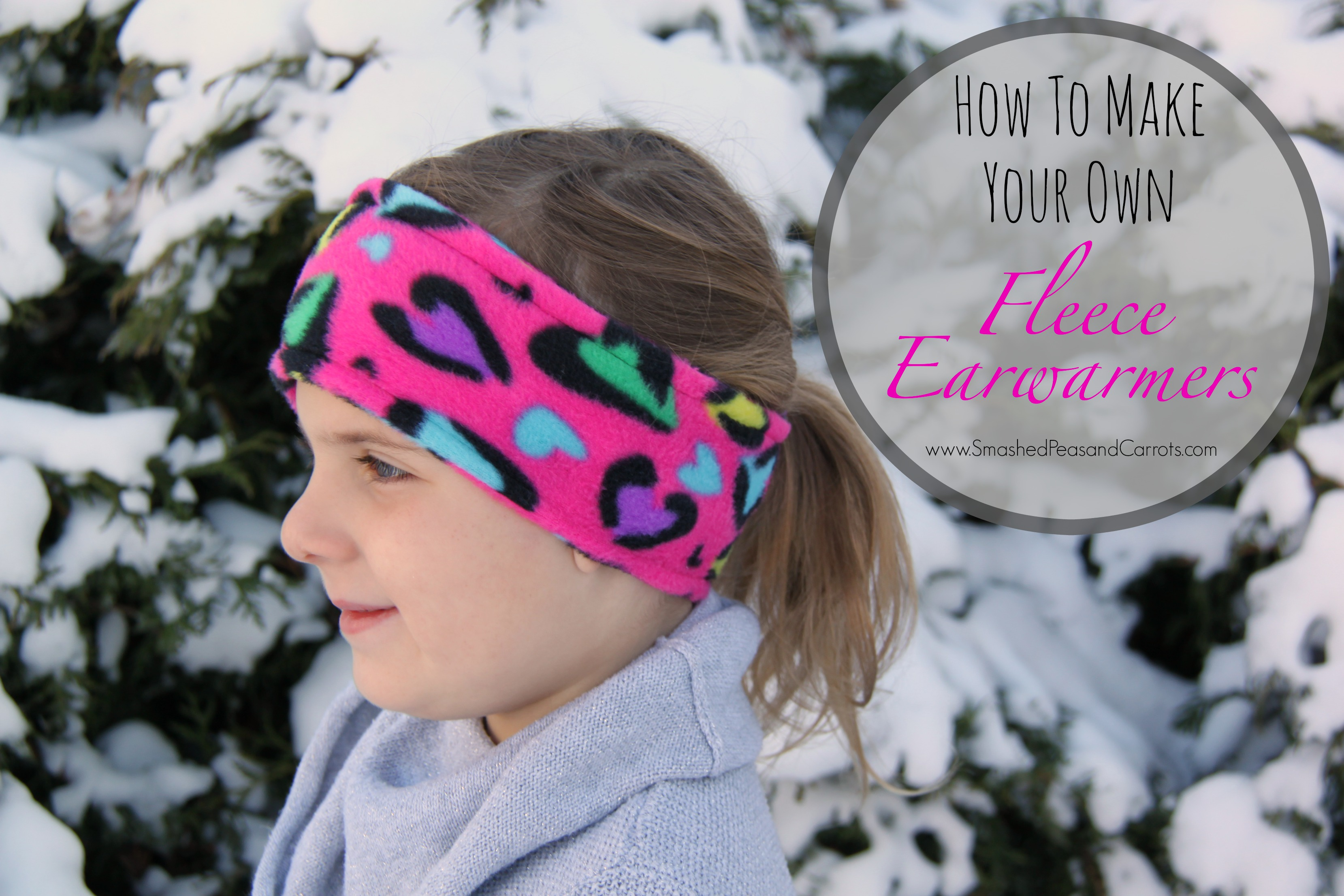 DIY Fleece Ear Warmer | Skip To My Lou