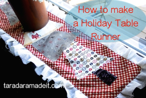 How to make a Christmas  Tree Table Runner