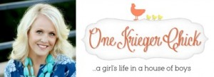 OneKriegerChick headshot and logo
