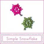 Pattern Simple snowflak