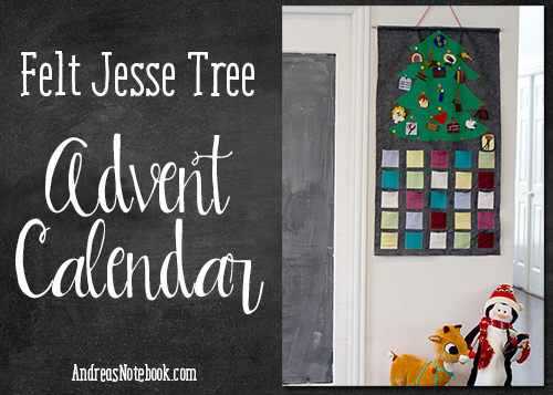 Felt advent calendar tutorial by AndreasNotebook.com