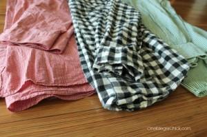 Shirts for pillows- OneKriegerChick.com
