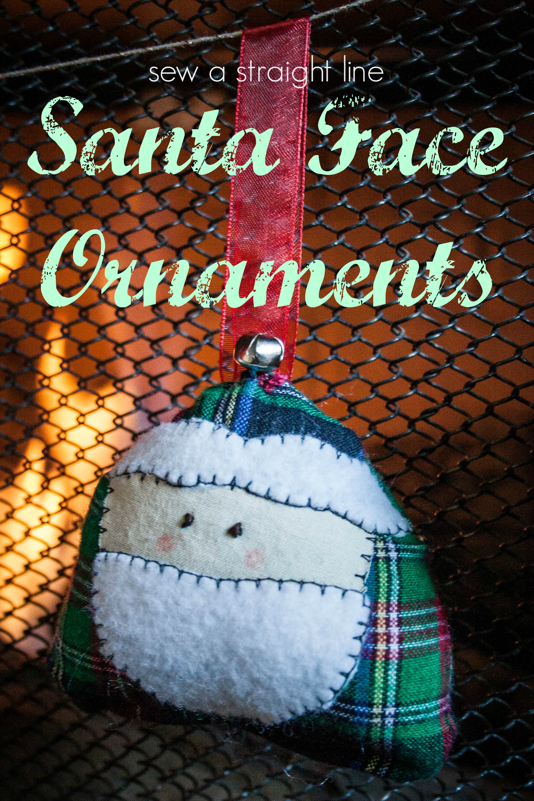 Santa Face Ornaments Skip To My Lou