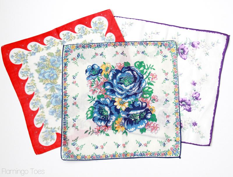 colorful vintage handkerchiefs