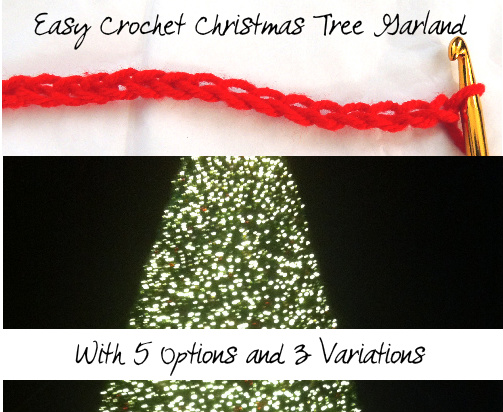 crochet christmas tree garland tutorial