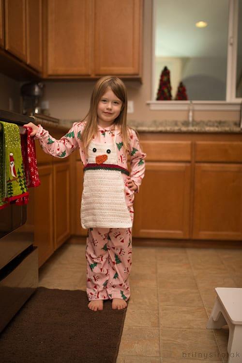 Snowman Apron Crochet Pattern Skip To My Lou