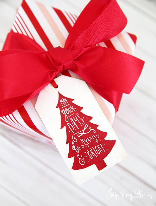 diy wood christmas tags