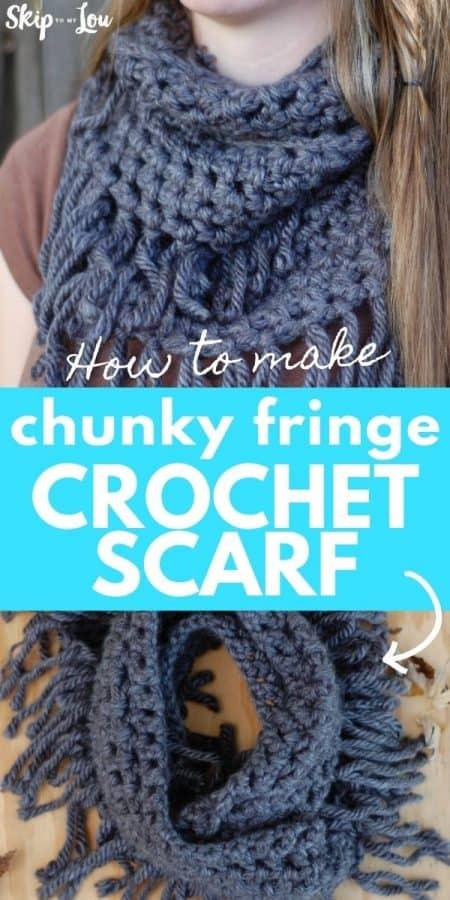 fringe crochet scarf PIN