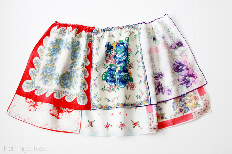 handkerchief apron skirt