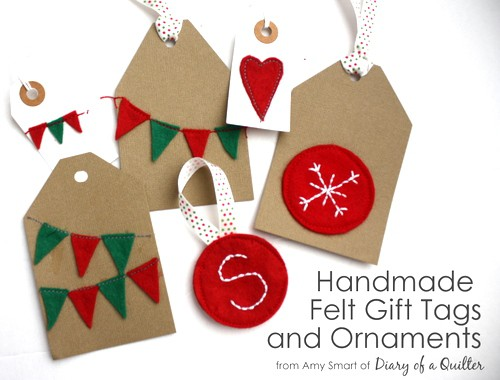 Handmade Felt Ornaments Gift Tags