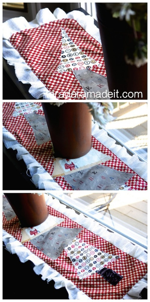 Christmas tree table runner handmade gift idea