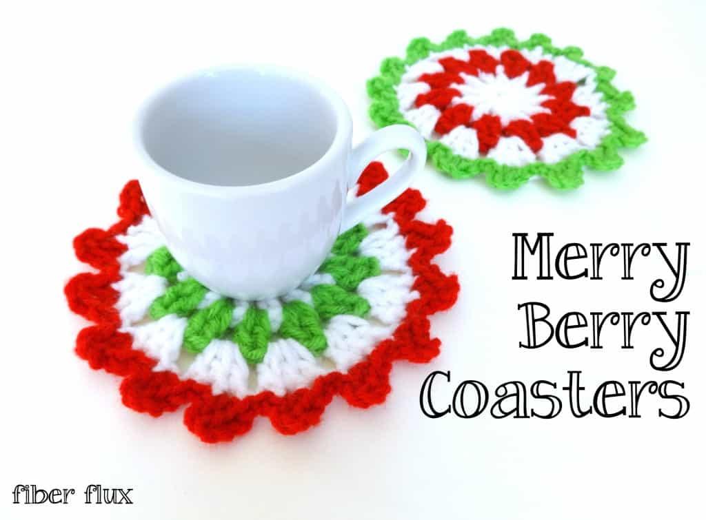 Merry Berry Crochet Coasters