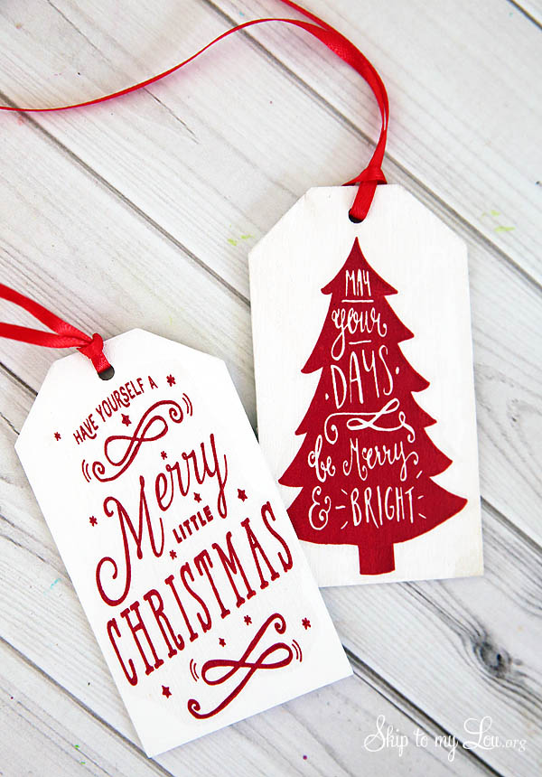 Christmas Gift Tags Diy.Free Printable Tags For Diy Wooden Gift Tags Skip To My Lou