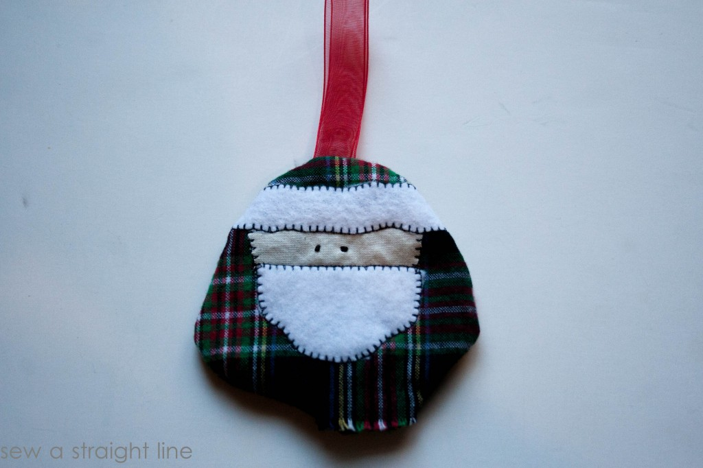 santa face ornaments sew a straight line-12