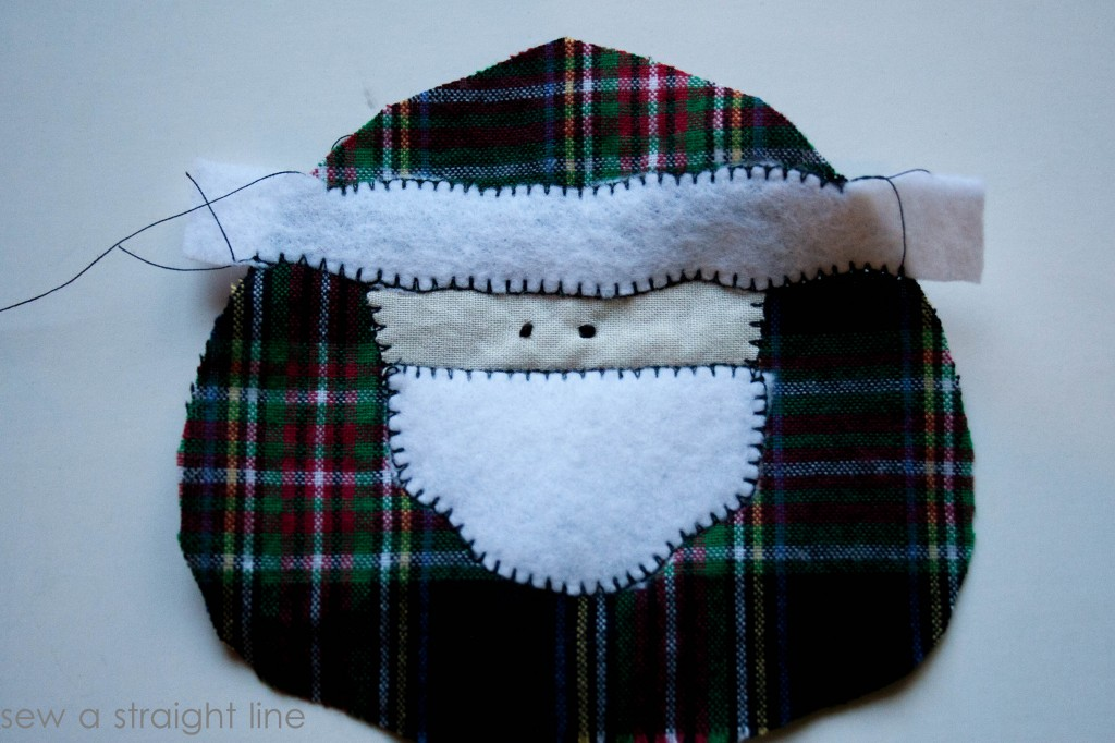 santa face ornaments sew a straight line-7