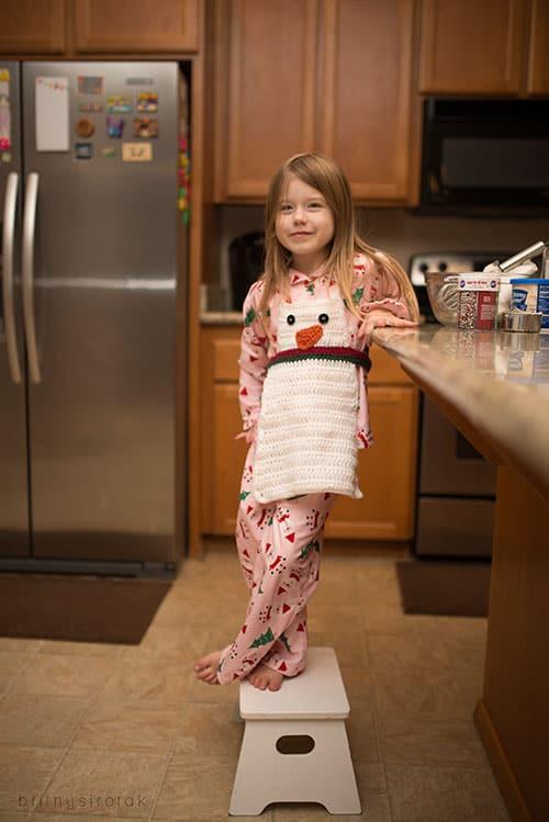 snowman crochet apron pattern