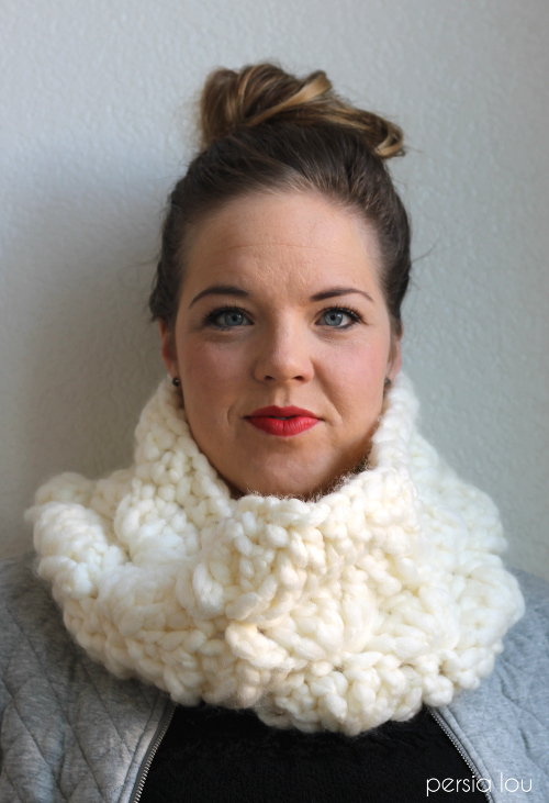 super chunky crochet cowl 5