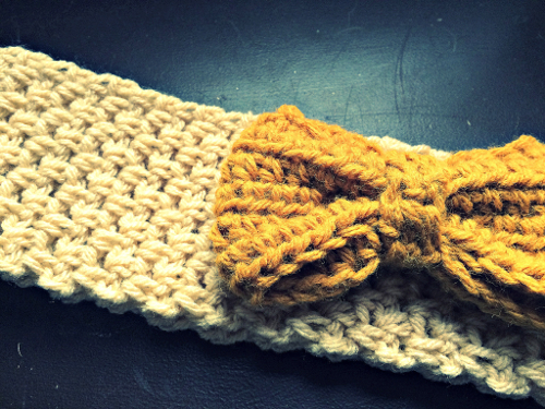 Crochet Ear Warmer With Bow Pattern Skip To My Lou