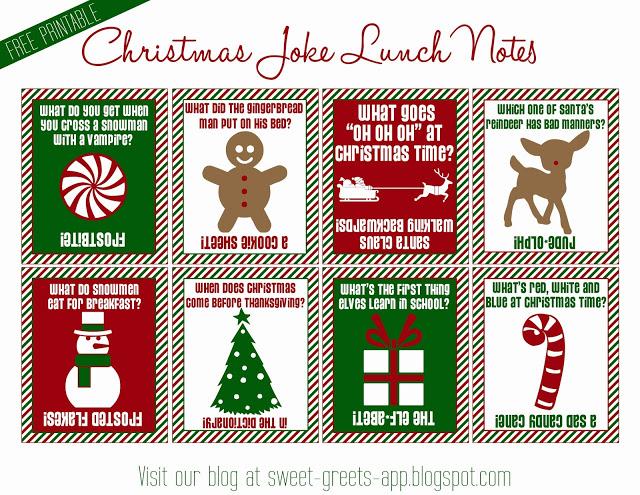 Christmas Puns For Kids.Free Christmas Printables Skip To My Lou