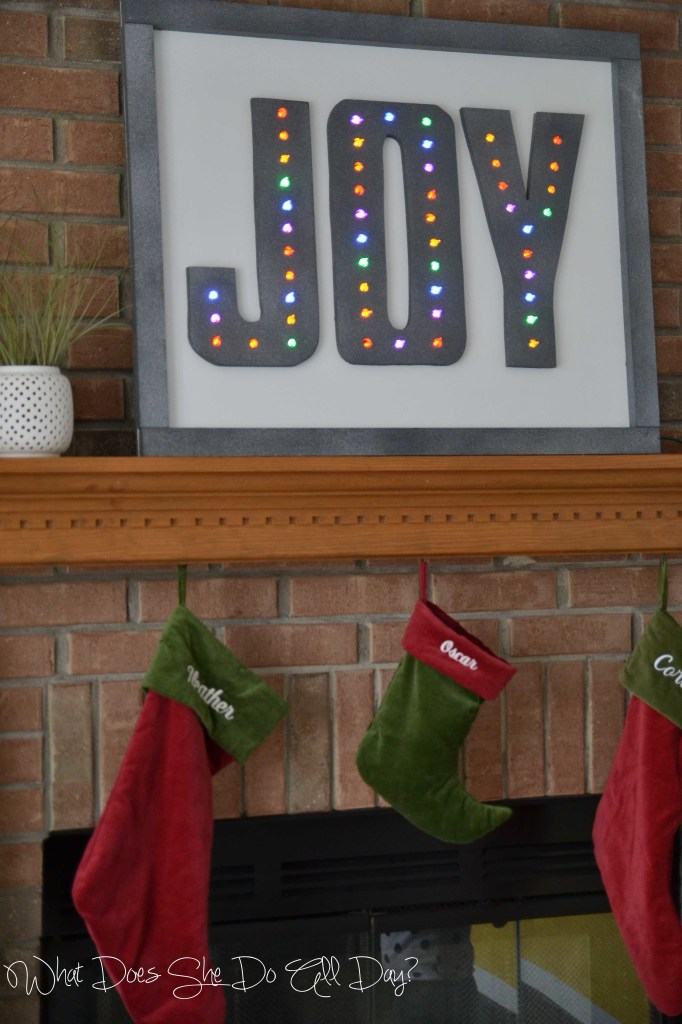 DIY christmas decorations joy marquee sign