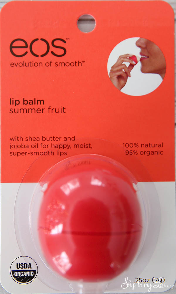 EOS lip balm summer fruit