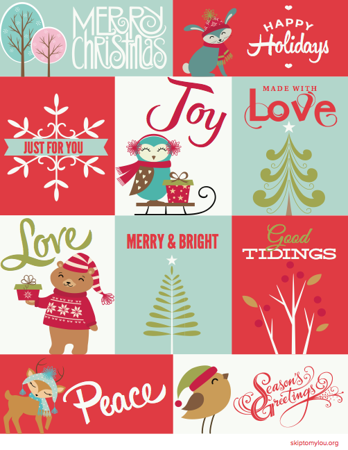 image relating to Free Christmas Tag Printable named Totally free Xmas Printable Reward Tags Overlook In direction of My Lou