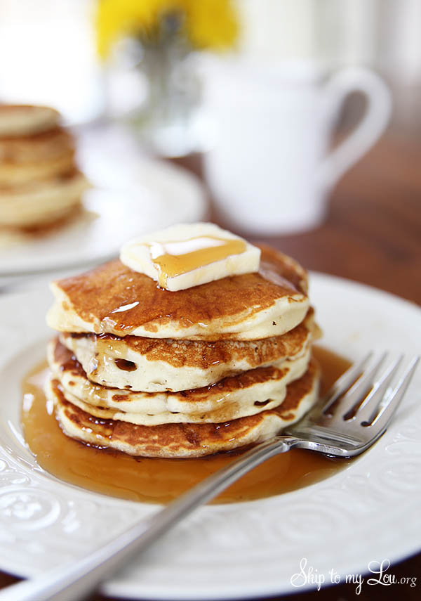 buttermilk shake and pour pancakes