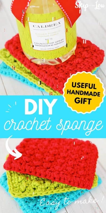 crochet sponge diy PIN