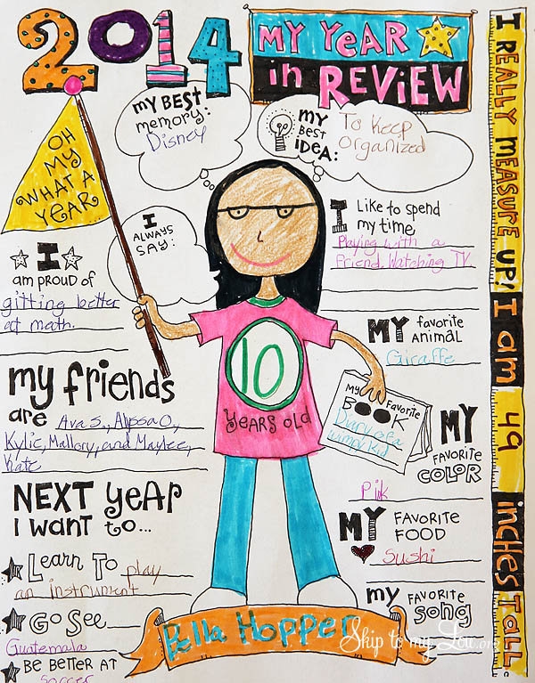kids free year in review printable 2014