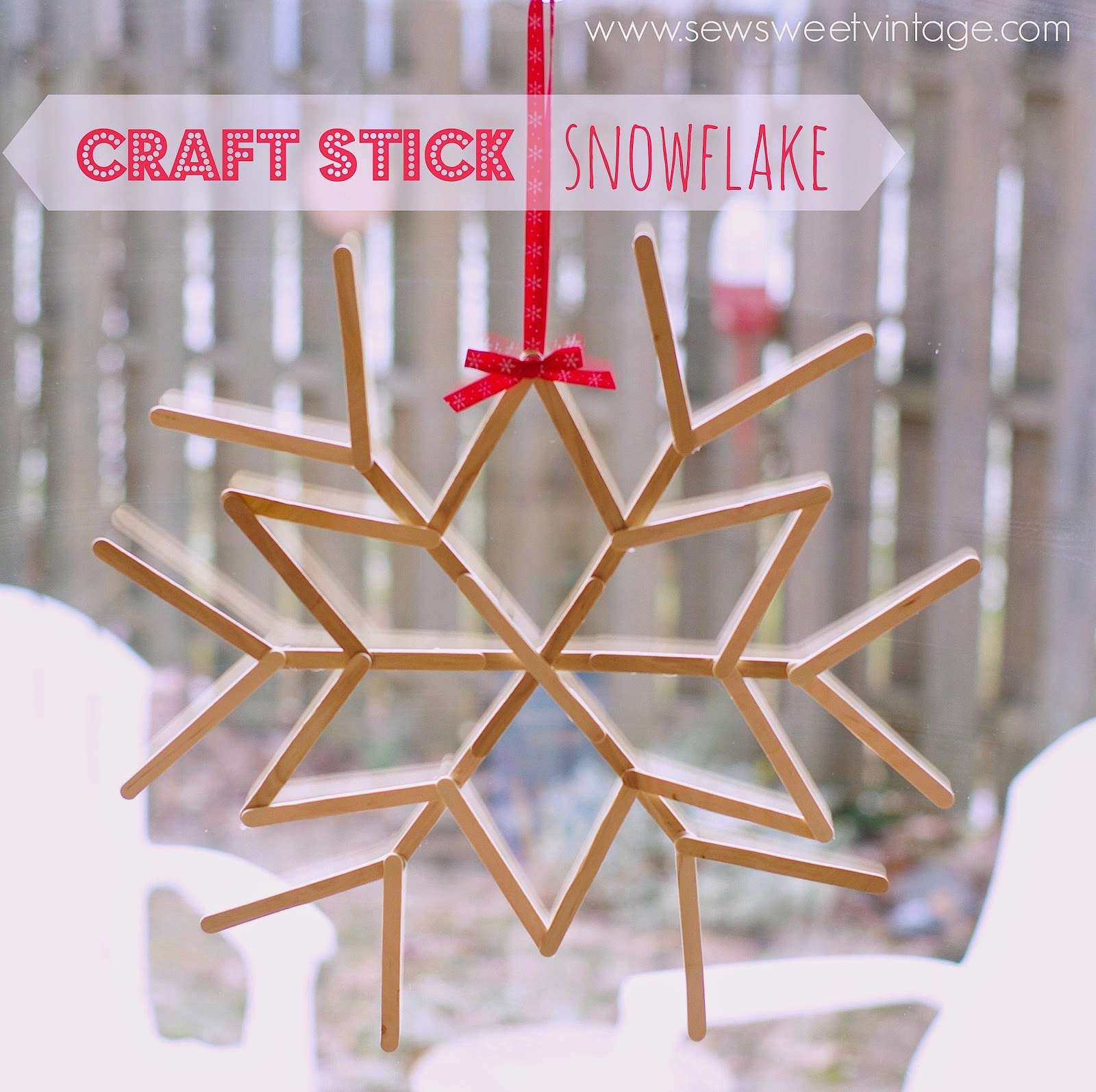 diy christmas decorations snowflake