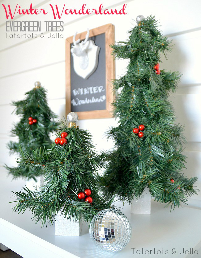 diy christmas decorations evergreen trees